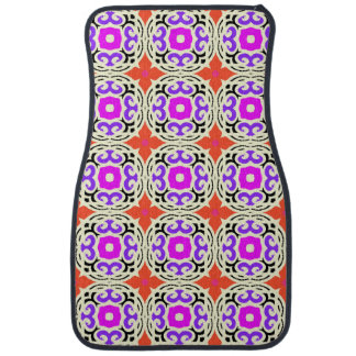 Ethnic Pattern with Moroccan Motifs Floor Mat
