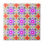 Ethnic Pattern with Moroccan Motifs Small Square Tile