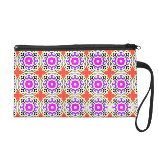 Ethnic Pattern with Moroccan Motifs Wristlet Purses