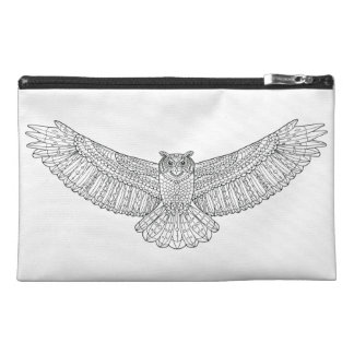 Ethnic Patterned Eagle Owl Travel Accessory Bag