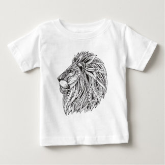 Ethnic Patterned Lion Head Baby T-Shirt