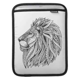 Ethnic Patterned Lion Head iPad Sleeve
