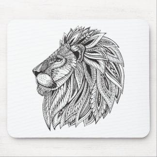 Ethnic Patterned Lion Head Mouse Mat