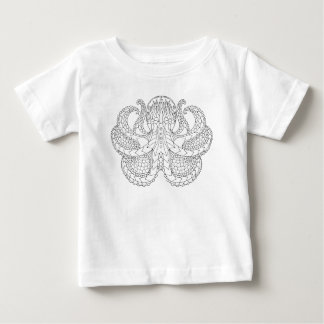 Ethnic Patterned Octopus Baby T-Shirt