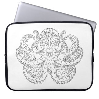 Ethnic Patterned Octopus Laptop Computer Sleeves