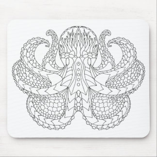 Ethnic Patterned Octopus Mouse Mat
