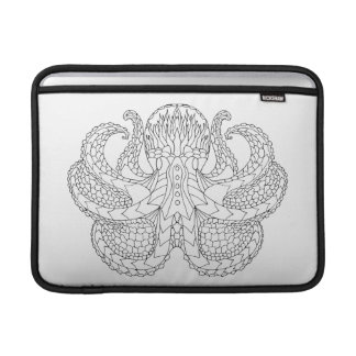 Ethnic Patterned Octopus Sleeve For MacBook Air