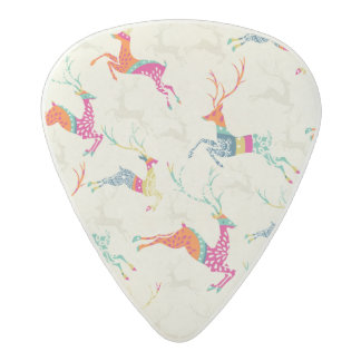 Ethnic Patterned Reindeer Acetal Guitar Pick