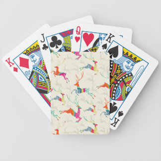 Ethnic Patterned Reindeer Bicycle Playing Cards