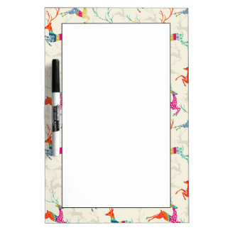 Ethnic Patterned Reindeer Dry-Erase Whiteboards