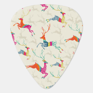 Ethnic Patterned Reindeer Guitar Pick
