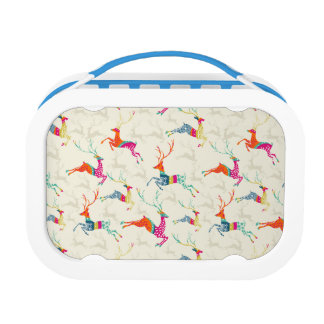 Ethnic Patterned Reindeer Lunch Box