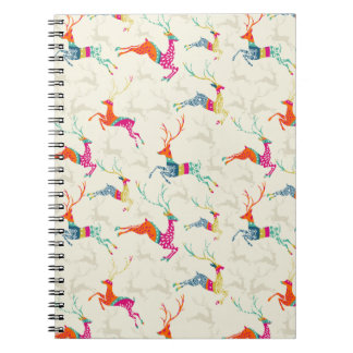 Ethnic Patterned Reindeer Notebook