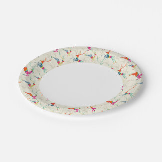 Ethnic Patterned Reindeer Paper Plate