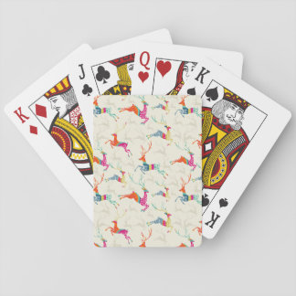 Ethnic Patterned Reindeer Playing Cards