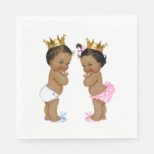 Ethnic Prince and Princess Baby Shower Disposable Serviette