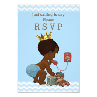 Ethnic Prince Just Calling to Say Please RSVP 9 Cm X 13 Cm Invitation Card