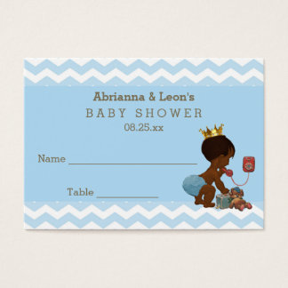 Ethnic Prince on Phone Chevrons Seating Cards