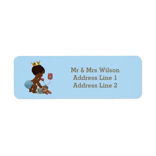 Ethnic Prince Phone Suitcase Blue Baby Shower Return