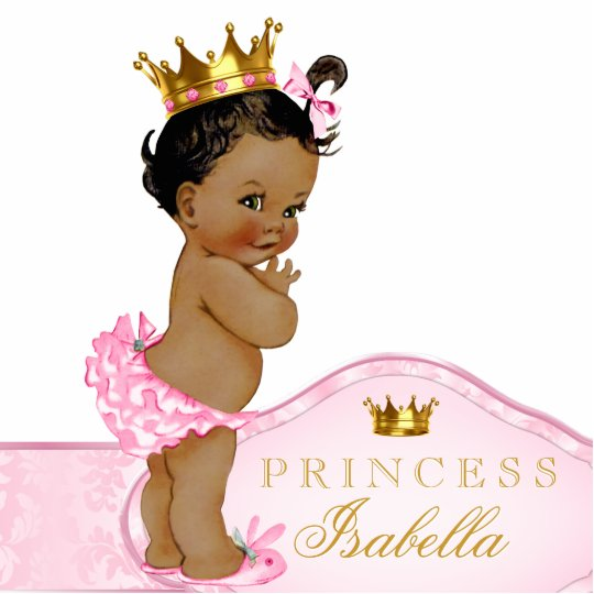 Ethnic Princess Baby Shower Standing Photo Sculpture