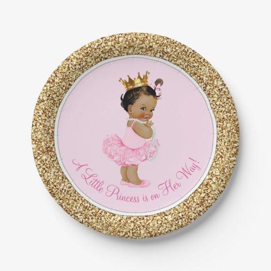 Ethnic Princess Ballerina Pink Gold Baby Shower 7