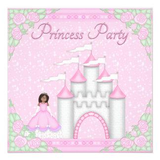 Ethnic Princess Castle Pink Princess Party Invitations