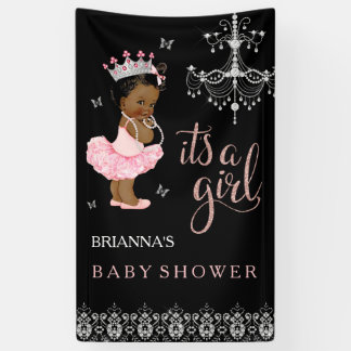 Ethnic Princess It's a Girl Baby Shower Banner