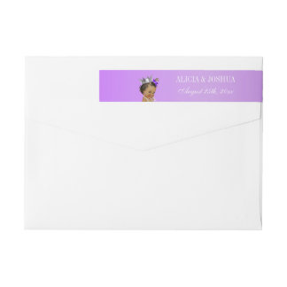 Ethnic Princess Lavender Baby Wraparound Return Address Label
