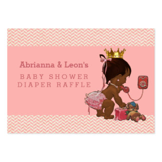 Ethnic Princess on Phone Chevrons Diaper Raffle Pack Of Chubby Business Cards