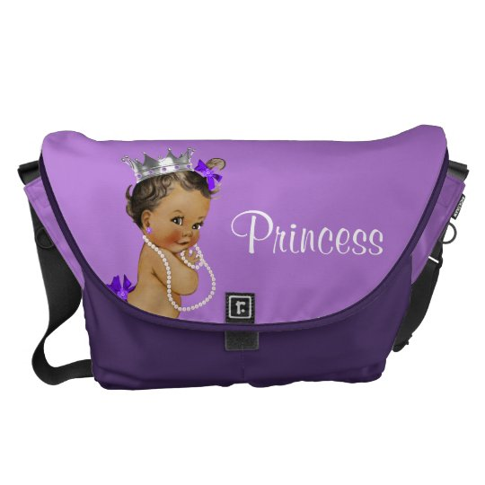 Ethnic Princess Pearls Lavender Baby Diaper Bag Courier
