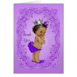 Ethnic Princess Thank You Baby Shower Purple Note Card