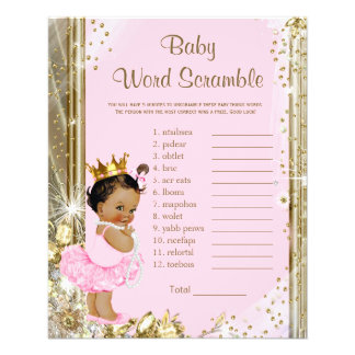 Ethnic Princess Tutu Baby Shower Games 11.5 Cm X 14 Cm Flyer