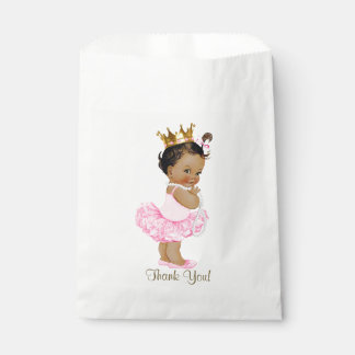 Ethnic Princess Tutu Ballerina Pearls Baby Shower Favour Bags