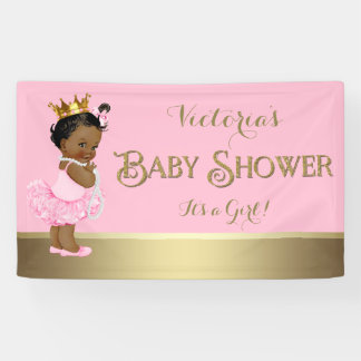 Princess baby shower indoor outdoor banners Baby shower banners