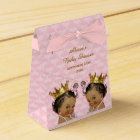 Ethnic Princess Twins Quilted Pink Baby Shower Favour Box