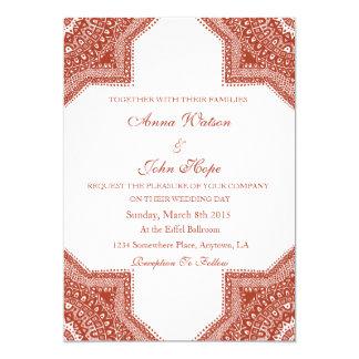 Ethnic Red Moroccan Wedding Invitation