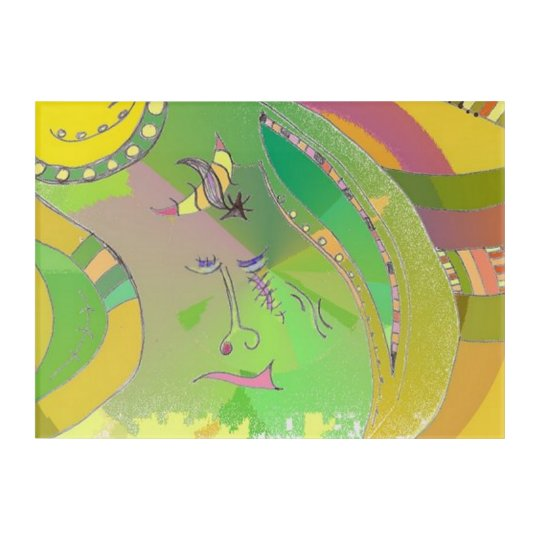 Ethnic Roots Wall Art Green Gold Mutlicolour