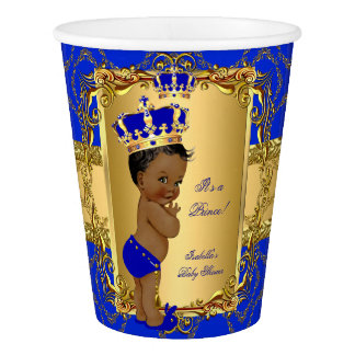 Ethnic Royal Blue Prince Crown Baby Shower