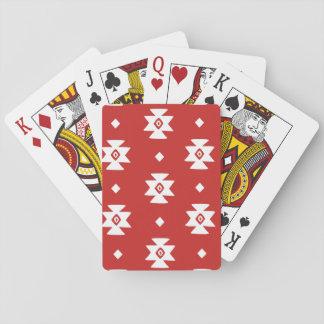 Ethnic Slavic native ornament boho bulgarian kilim Playing Cards