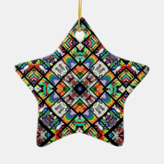 Ethnic Spirograph Christmas Ornament