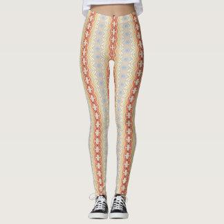 Ethnic striped geometric pattern. leggings