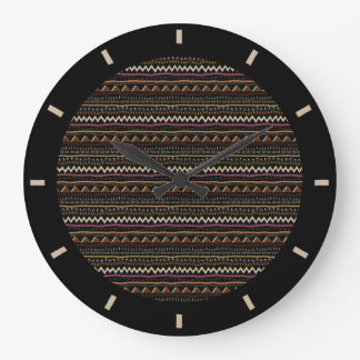Ethnic Stripes Design Wall Clock