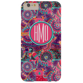 Ethnic Style Animal Pattern | Monogram Barely There iPhone 6 Plus Case