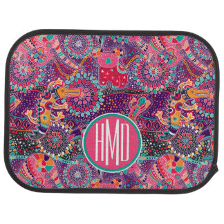 Ethnic Style Animal Pattern | Monogram Car Mat