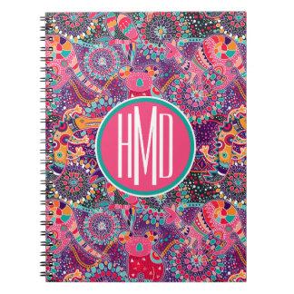 Ethnic Style Animal Pattern | Monogram Notebooks