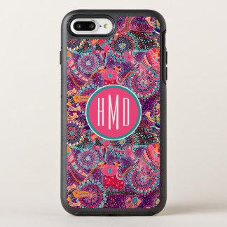 Ethnic Style Animal Pattern | Monogram OtterBox Symmetry iPhone 8 Plus/7 Plus Case