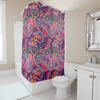 Ethnic Style Animal Pattern Shower Curtain