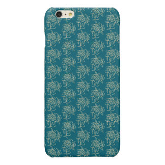 Ethnic Style Floral Mini-print Beige on Teal iPhone 6 Plus Case