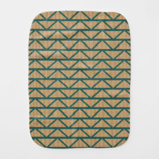 Ethnic Style Knitted Pattern Burp Cloth
