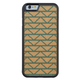 Ethnic Style Knitted Pattern Carved Maple iPhone 6 Bumper Case